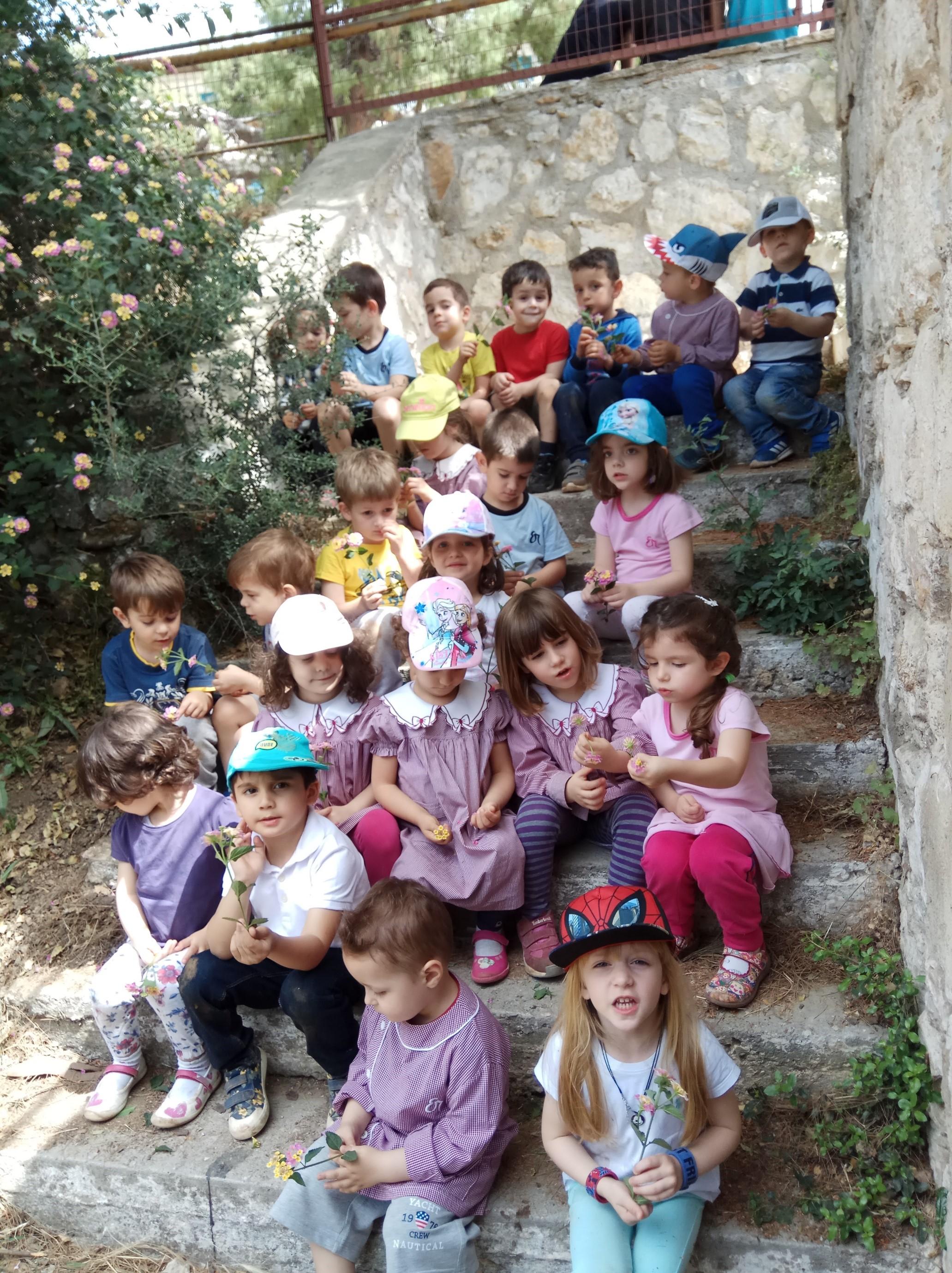Οι μαθητές του Παιδικού Σταθμού μετά τη βόλτα στο Δάσος