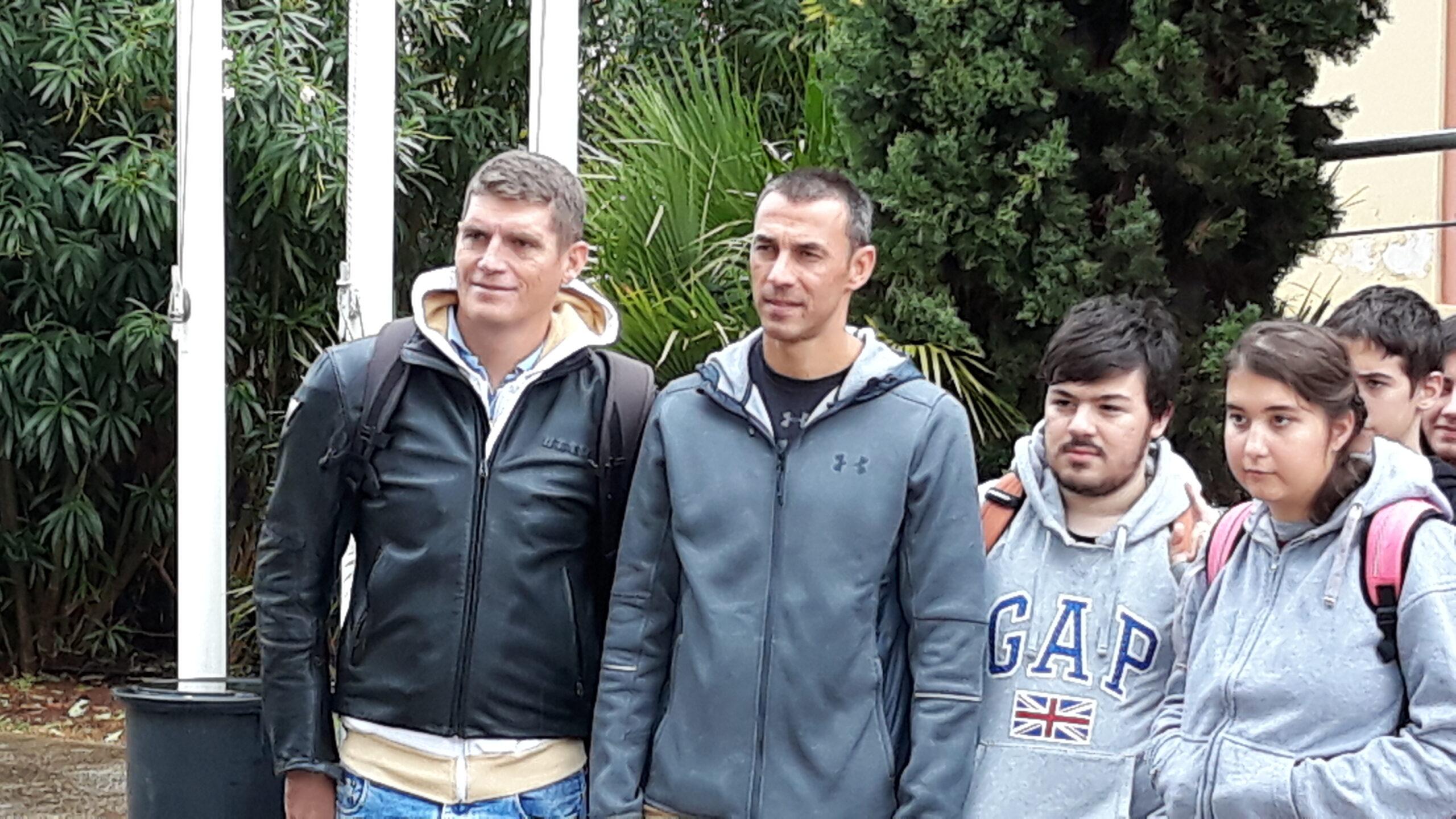 Με τον αργυρό ολυμπιονίκη μας Σπύρο Γιαννιώτη και τον πρωταθλητήμας στον στίβο Περικλή Ιακωβάκη