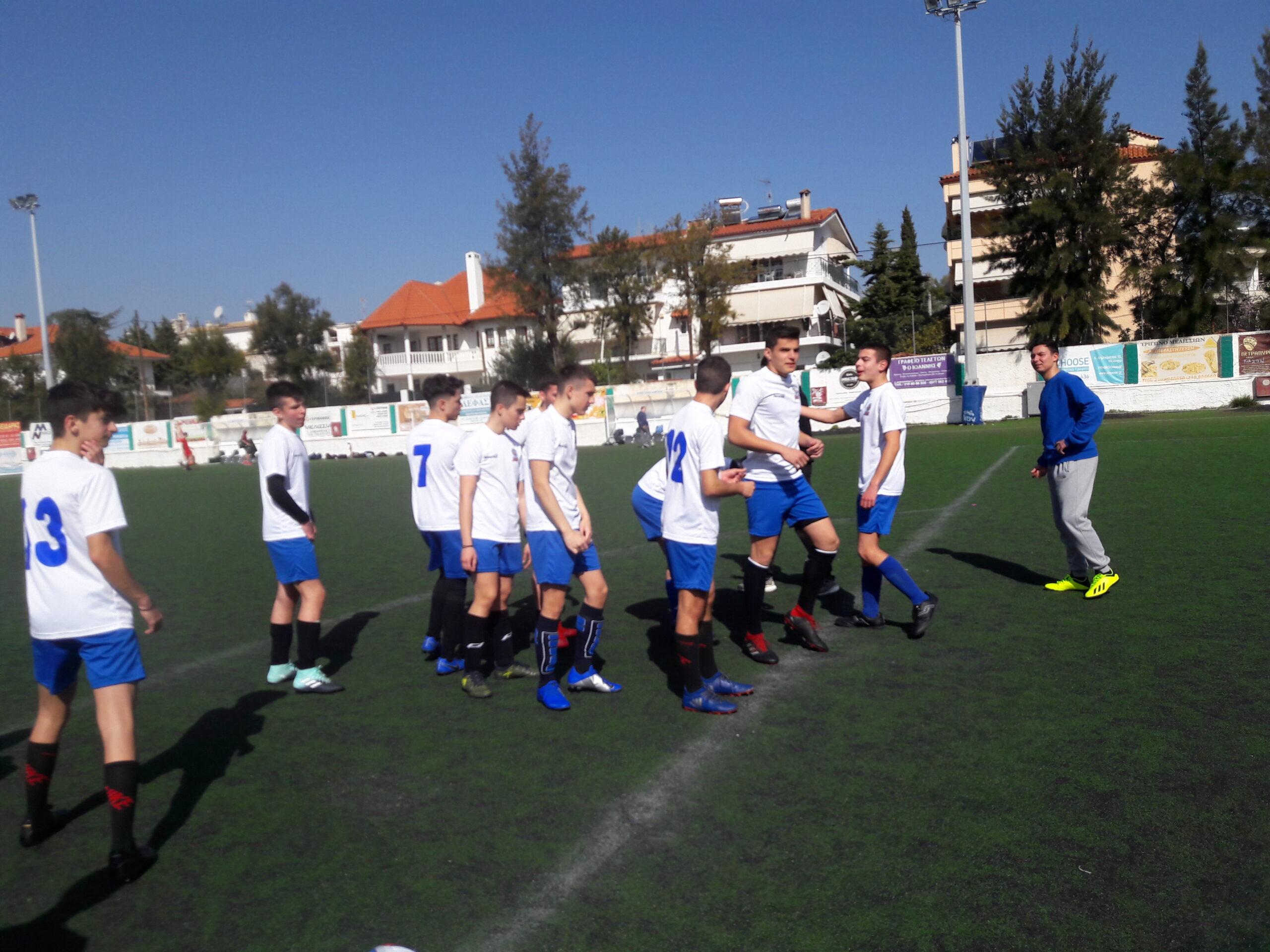 Από τον αγώνα του ποδοσφαίρου